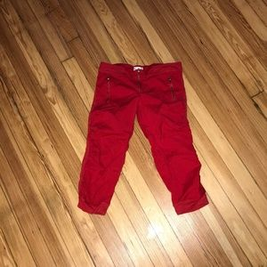 wet seal red rouche side capri size 1 - 3 for $20
